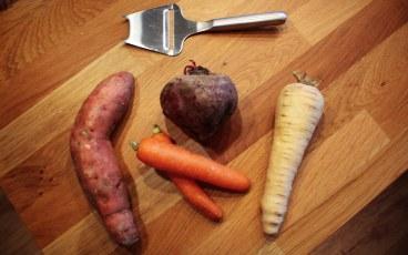 Rotfruktschips